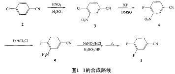 氟还原制得4氟3硝基苯甲腈(4)4经交换得4氟3氨基设备睛(5)苯甲排烟大功率图片